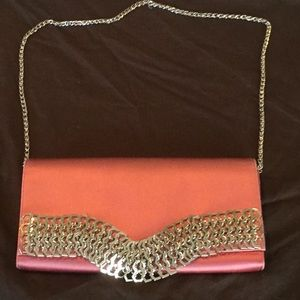 Rodo Made in Italy  Pink Silk Embellished Clutch